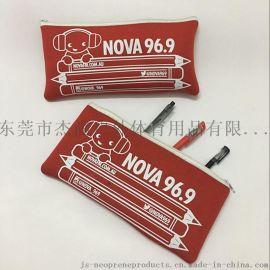 厂家供应潜水料笔袋环保笔筒防水办公文具盒可印logo