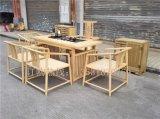 廠家直銷新中式茶桌茶臺禪意功夫茶桌椅白蠟木免漆茶幾組合會所茶樓茶桌椅