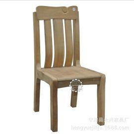 恆嶽家具實木白坯現代中式家具高檔會所食堂餐飲 胡桃木白茬餐椅