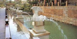石喷泉厂家直销 现货 花岗岩 动物喷泉