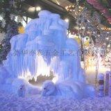 高仿真假雪場景雪景制作,人造雪景觀屋檐積雪北方飯店軟裝雪景