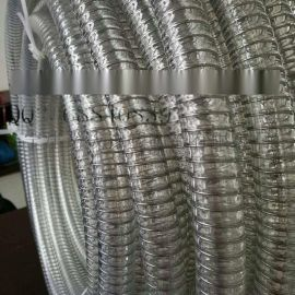 pu食品级钢丝平滑管钢丝螺旋管输送酒水饮料专用软管