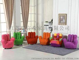 創意休閒五指懶人辦公沙發 簡約可愛兒童布藝沙發