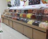 大沣DF-178精品超市货架展柜进口凉果食品进口商品铁木结合货架尺寸层高