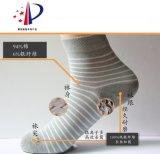 【专利产品】 优银银纤维抗菌除臭袜 条纹女袜 棉袜 中筒袜