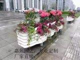 廠家定制 PVC微發泡街道隔離花箱花器花桶戶外臉譜花盆園藝種植箱