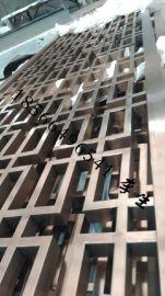 北京别墅会所精品新款304镜面钛金不锈钢镂空雕花 隔断屏风定制