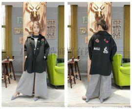 品牌女装折扣双面羊绒大衣贝克华菲折扣货源