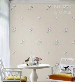宝路通刺绣墙布,美式欧式轻奢风格,无缝高档墙布