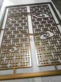 供应仿古隔断镂空花格折叠移动不锈钢屏风颜色钛金可来图来样定制