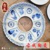 青花大咖盤 酒店火鍋盤 直徑1.2米年夜飯聚餐瓷盤 廠家直銷