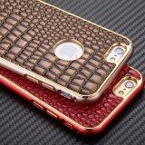 苹果6鳄鱼纹金属边框 iphone6手机保护壳4.7 6保护套带皮后盖