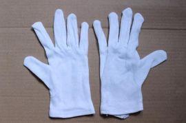 纯棉汗布加条手套