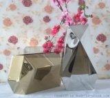 多边形不锈钢镜面盆景花盆 不锈钢花瓶 耐氧化 耐腐蚀