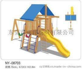 木質塑料滑梯