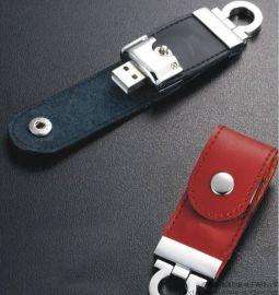 鑰匙扣皮質U盤 皮革usb隨身碟 個性禮品