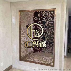 歐式別墅不鏽鋼屏風 古銅色不鏽鋼花格專業制作