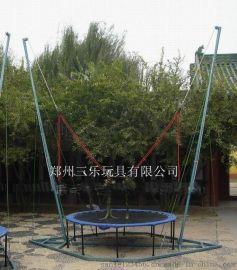 湖北鄂州电动单人钢架蹦床圆形设计