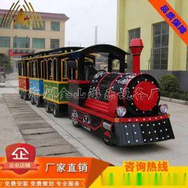 金山新款无轨小火车价格/造型精美的游乐设备/观光小火车生产厂家