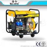 5KW柴油发电机,开普款开架柴油发电机,柴油发电机带4小轮