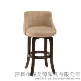 实木吧台椅简约定制吧椅欧式酒吧椅高脚凳吧台凳