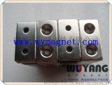 厂家供应环保方形带孔强磁,异型电机专用磁钢