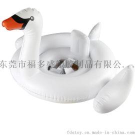 厂家直销环保PVC充气白天鹅儿童游泳座圈