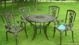 现货供应 户外铸铝桌椅 一桌4椅(AC-A035)