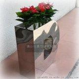 【定做】酒店创意造型不锈钢花钵 室外花盆花器 耐氧化 耐腐蚀