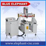 500*800mm工作面積小型紅木工藝品雕刻機,四軸三維立體玉石木材雕刻機,加旋轉軸,國產昌盛水冷主軸,速度快,成本低