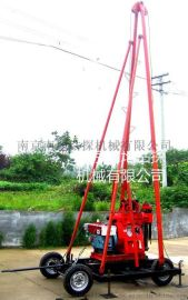 四轮拖挂底座及钻塔(推荐)(T4-SJ-4型适合100-300米钻机)