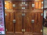 名琢世家刺猬紫檀红木四门衣柜顶箱衣柜价格图片大全
