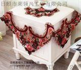 鏤空彩繡桌布 36方成套