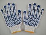 漂白兰波点630克棉纱PVC点塑手套(电脑机生产)
