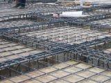 钢筋网片大多用于桥梁、工地建设,螺纹钢筋焊接而成