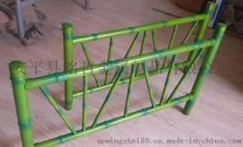 廠家直銷 塑鋼草坪護欄 仿竹節籬笆護欄 公園景區裝飾竹節護欄