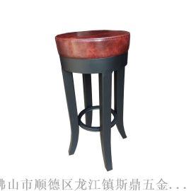 吧椅厂家/批发KTV酒吧专用圆吧椅/美式复古休闲户外高脚凳子