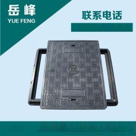 魯潤復合樹脂材料矩形水表井蓋弱電井蓋600*800*40mm雙蓋綠色