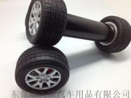 创意礼品工艺品厂家 精品防砸摆件环保材质轮胎造型哑铃可收藏