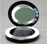 高端定制圆化妆镜子移动电源 带双面镜子充电宝厂家定制logo