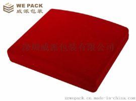 中国红出口植绒礼品包装首饰盒