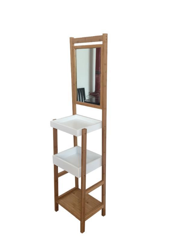 淘宝分销 化妆架、化妆架置物架、镜子架、浴室置物架竹制用品