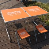 折叠桌子便携式桌椅组合简易铝合金野外烧烤野餐露营
