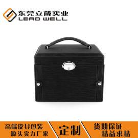 皮革首饰盒包装盒便携式皮盒定制