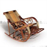 藤格格 7014 廠家批發實木逍遙椅藤制搖椅 搖椅加茶幾 休閒搖椅 老人睡椅