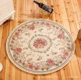 新款欧式提花地垫 高档圆形多尼尔提花地毯脚垫
