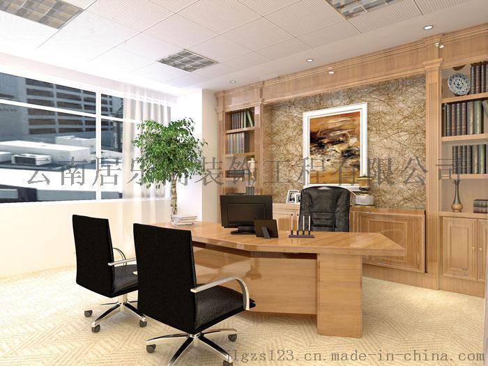 居乐高装饰南屏街230平小型办公室绿色小清新装修效果