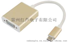 網路熱銷 USB TYPE-C to VGA 轉接器