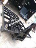 佛山平板拖车生产厂家、叉车牵引散货重型平板拖车