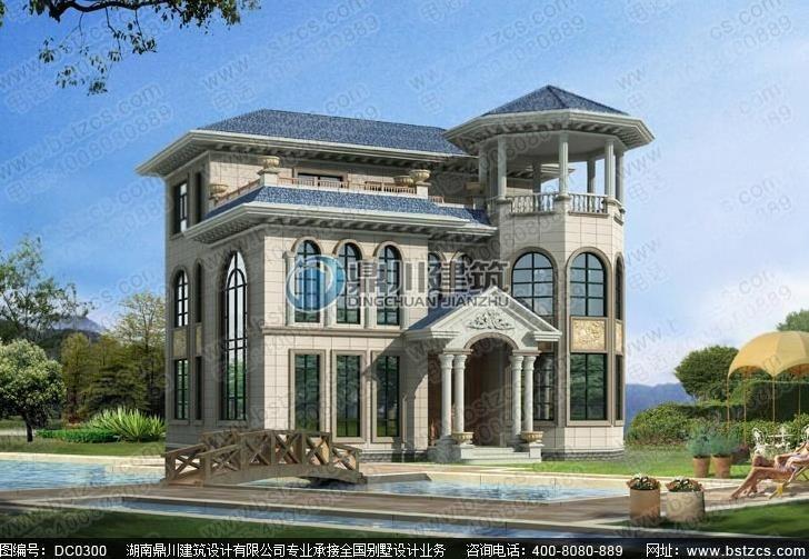 2016年新款大气三层带露台欧式别墅设计图纸_鼎川建筑